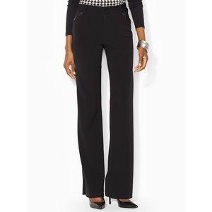 Ralph Lauren Jacie Flare Black Wool Pants